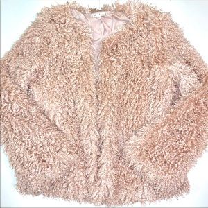 Willow & Clay Jackets & Coats - Willow & Clay Faux Fur Blush Jacket, Small